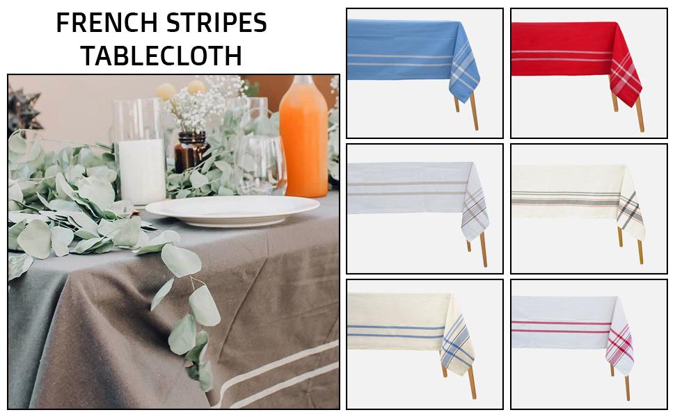 cotton checked tablecloth