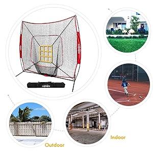 travel baseball net