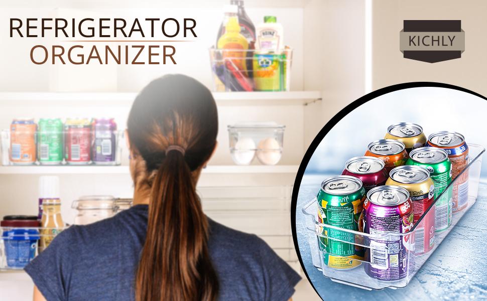 KICHLY (Juego de 6) Organizador para la Despensa del Refrigerador ...