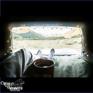 Vanlife Mountain Views on Woolly Blanket
