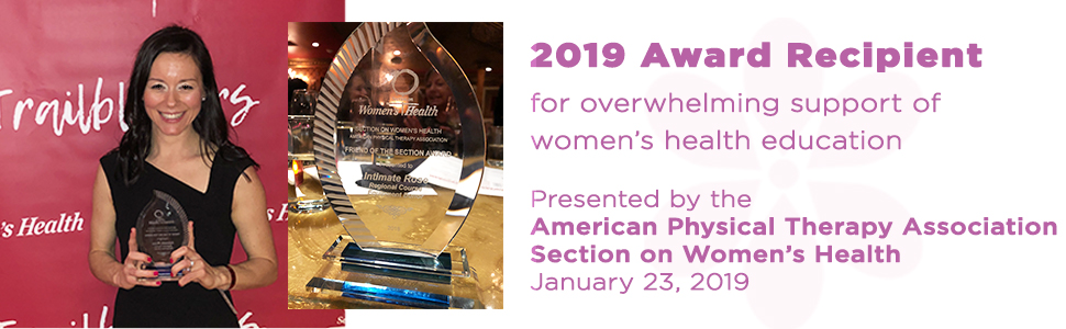 intimate rose american physical therapy association section on womens health award