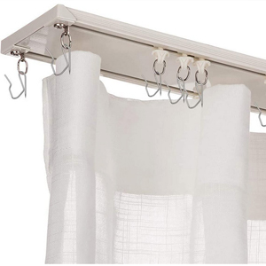 HYHP Shower Curtain Hooks Shower Curtain Hooks Rings for Bathroom Shower Rods Curtain Set of 24