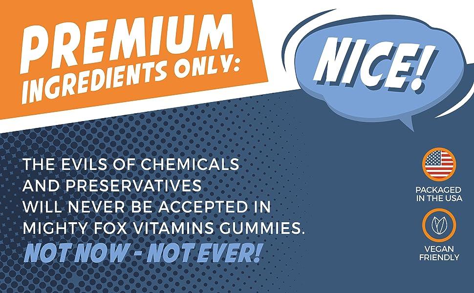 Mighty Fox Multivitamin Gummies