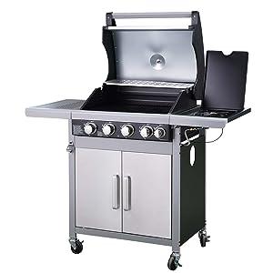 Grand compartiment grill et feu latéral