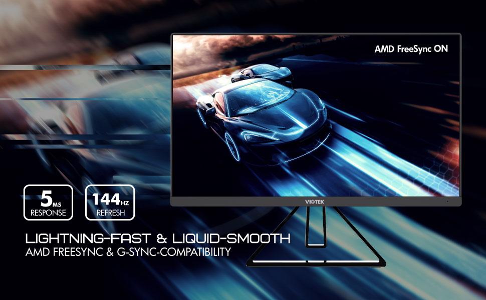 LIGHTNING-FAST & LIQUID-SMOOTH AMD FREESYNC & G-SYNC-COMPATIBILITY