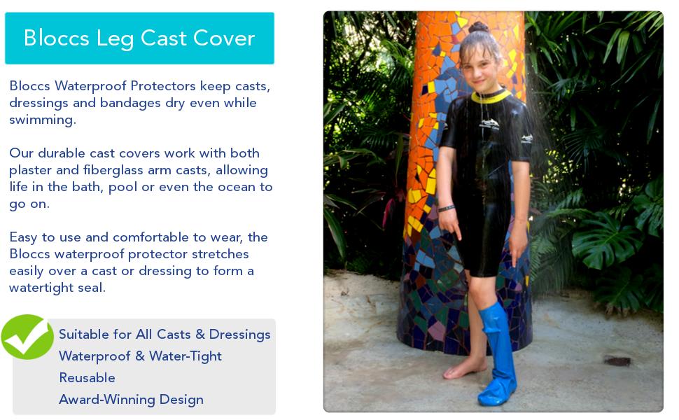 bloccs durable waterproof leg cast cover