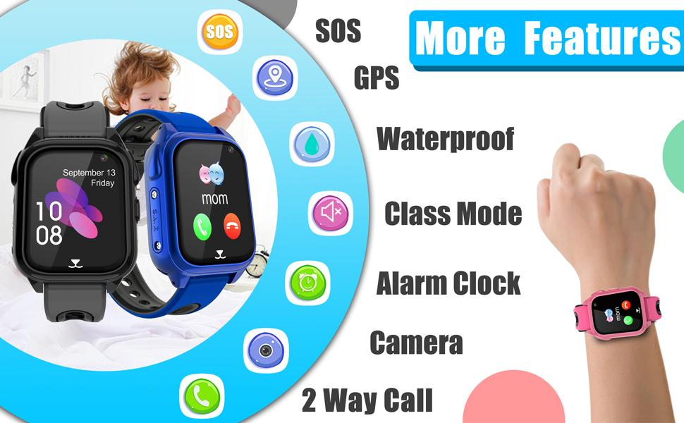 Game Wrist Smart Watch for Girls Boys Student Children Birthday Toys School Travel Outdoor