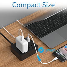 flat extension cord with usb