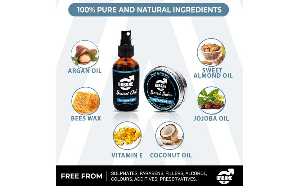 urbane men natural ingredients sandalwood jojoba argan essential oil