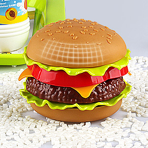play food toy set toddler dessert fast hamburger