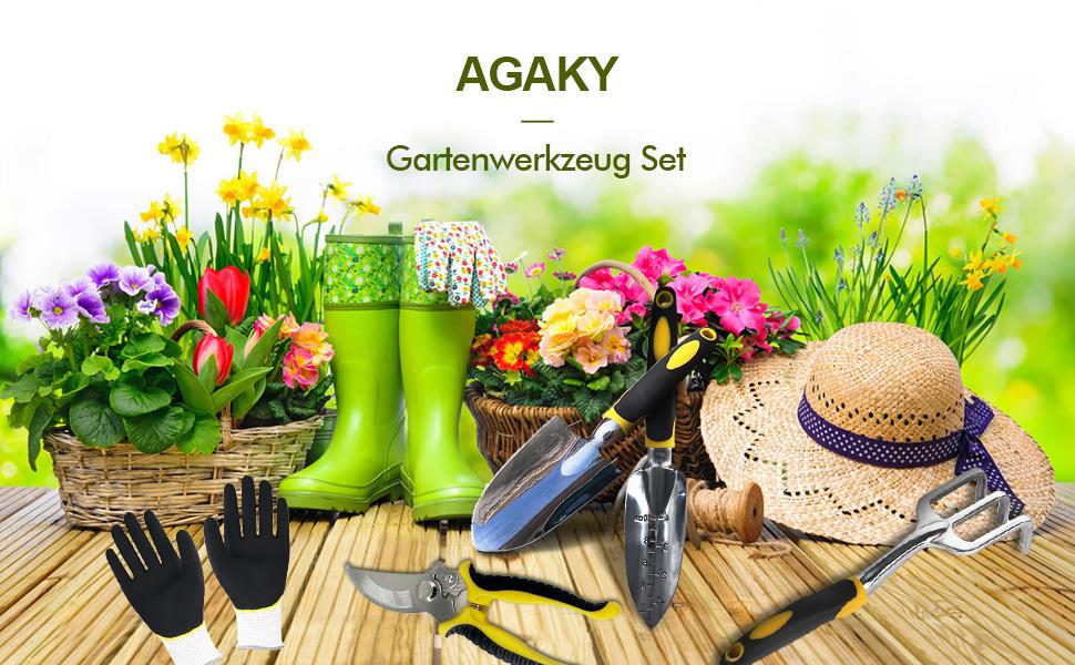 AGAKY Gartenwerkzeug Set
