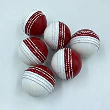 AnNafi Leather red Cricket Ball A Grade Handstitched White