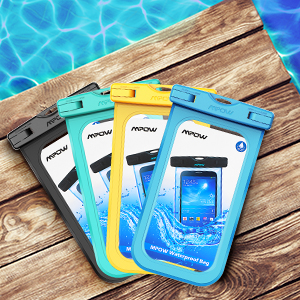 Mpow Funda Móvil Impermeable, Bolsa Estanca,Bolsa de Teléfono Móvil Seca para iPhone 11, XR,XS,XS MAX,X, 8, 8 Plus,7/7 Plus,Google Pixel, LG G6, ...