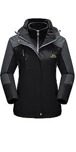 winter jackets for women winter coats 3 in 1 jacket