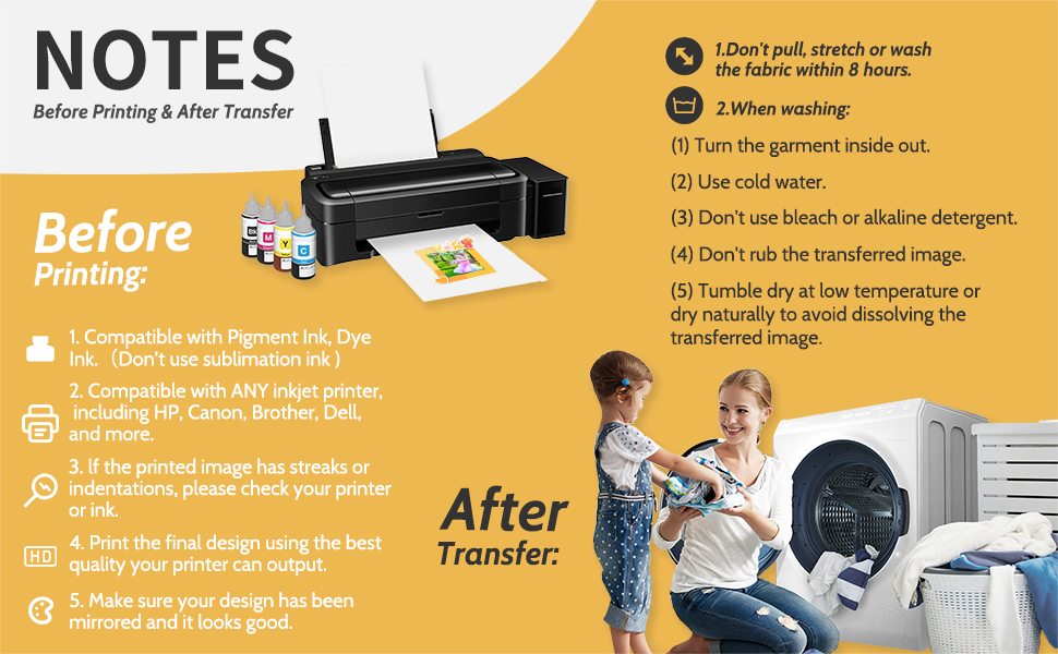 inkjet printer iron home heat transfer paper