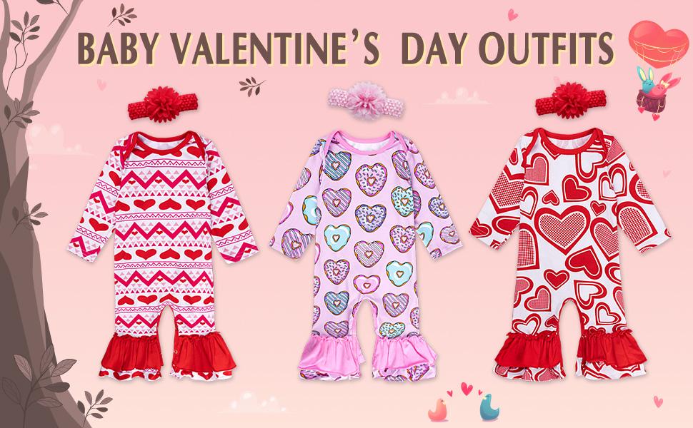 baby valentine's day romper