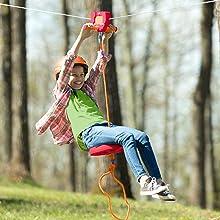 732716,80-Foot Red Zipline Kit,80,foot zipline,red zipline,80,foot red zipline,kids