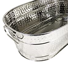 stainless, steel, hammered, colt, beverage, tub, bucket, ice, beer, wine, patio, outdoor