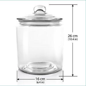 Masthome Tarro de Cristal con Tapa Grande,Recipientes de Almacenamiento de Alimentos 3,9L,Sin BPA,para Pasta,Alimentos,Cereales