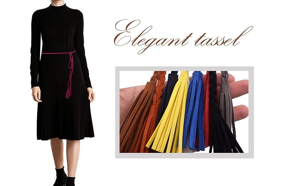 Nanxson Womens Woven Braided Waist Belt Skinny Buckle Vintage for Jeans//dress