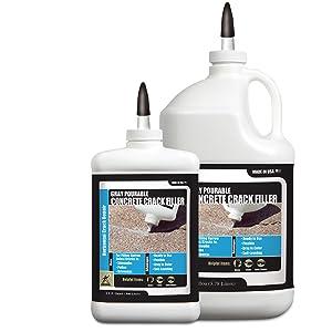 Gray, crack, filler, pourable, crack filler, concrete, bottle, gallon, quart, akona, tcc, materials