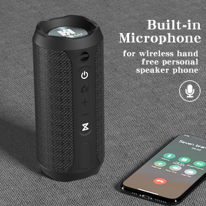 WSHDZ Portable 20w Waterproof Wireless Stereo Bluetooth Speakers J20 with Enhanced Bass Sound,Party Light,IPX67,HD Sound,Long Battery Life Support Hands-Free Call for Outdoor Indoor Activities-Black 603b32f7 485e 46d9 913f 0a9b14701e9a