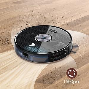 Hosome Robots Aspiradores y Fregasuelos 1500Pa, 55dBa,6 Modos de Limpieza, App Control, Ultra Delgado, Sensores Infrarrojos, 120min Tiempo de Trabajo y Auto-Carga: Amazon.es: Hogar