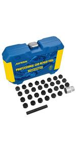 32 pc Locking Lug Nut Removal Keys Set,Automotive Wheel Anti-Theft Screws Removal Tool Socket Keys