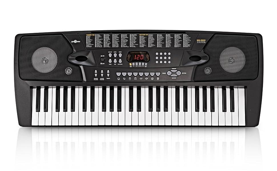 Teclado Portátil MK-2000 de 54 Teclas de Gear4music - Set de Principiante