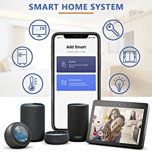 smart home system app smart android iphone App store Play Market Easy connect Alexa compability