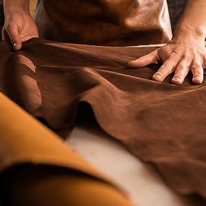 100% handmade buffalo leather