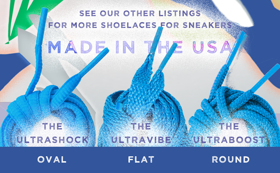 UltraShock Oval Shoe Laces for Sneakers