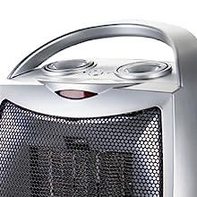 heater A/érotherme Portable Mural Protection Contre la surchauffe Thermostat r/églable 2 r/églages de Chauffage 1000-3000 W-avec minuterie et t/él/écommande