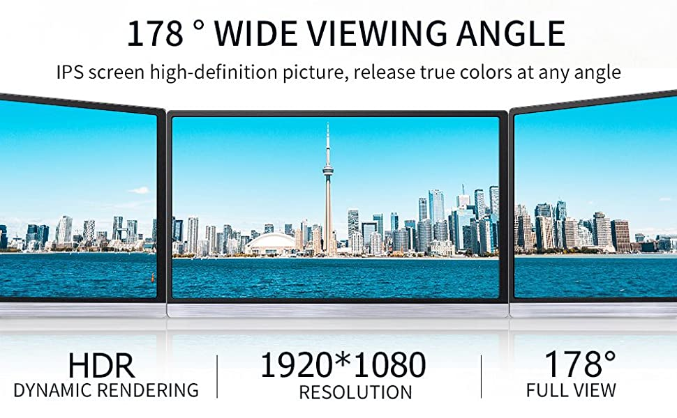 Full 178 wide viewing angle