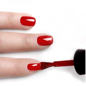 gel nail polish red