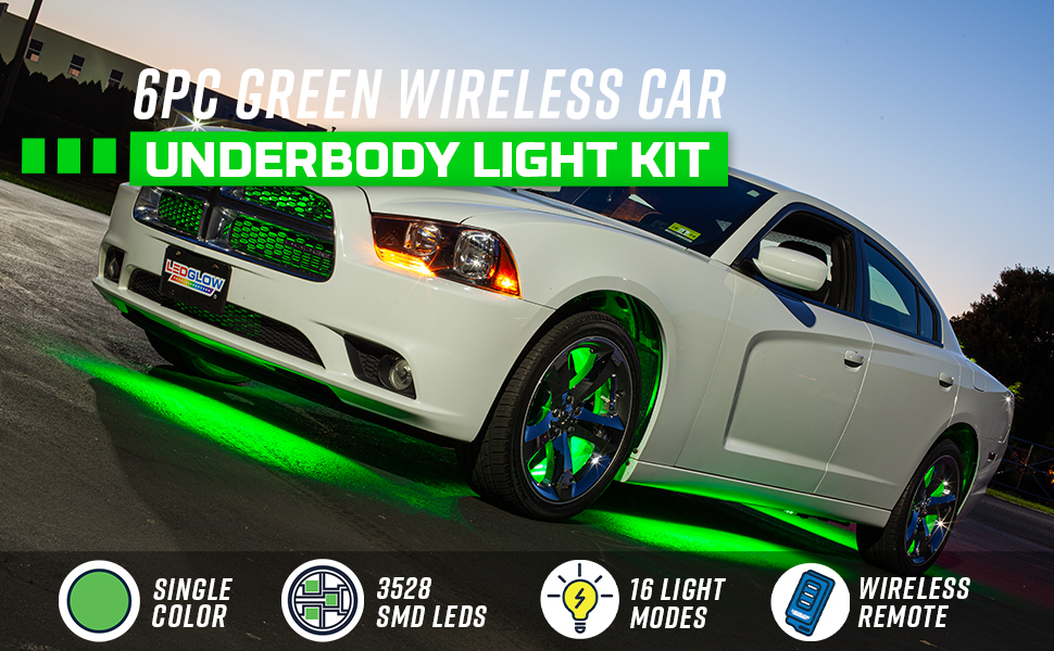 Green Wireless Car Underbody Light Kit
