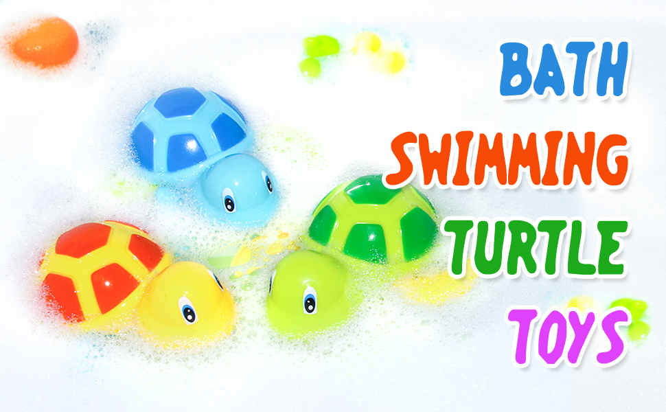 bath toys swimming turtles