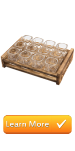12 glass shot glasses serving tray barware party serving trays bar shot glasses glassware wood tray