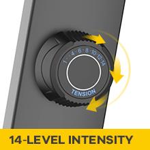 wide range intensity options