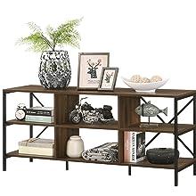 Furnitela Living Room Furniture Console Table Wood Brown
