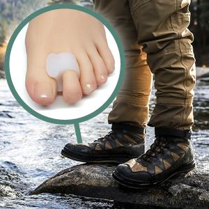 bunion toe separator spacer pads splint silicone straightener alignment big middle gel corrector