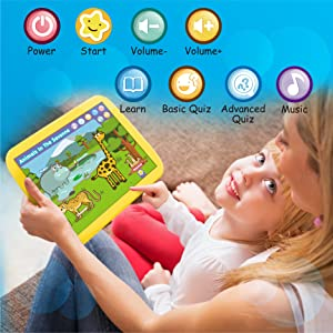 educational learning pad tablet letters numbers animals colors transportation interactive toddlers