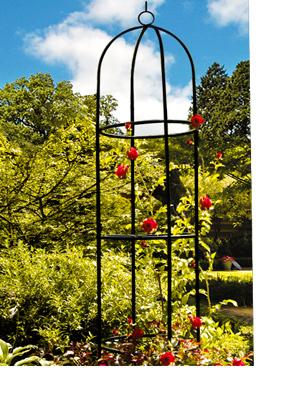 Deuba Obelisco columna para rosales plantas trepadoras viñas de exterior jardín soporte decorativo 200 x 40 cm Negro: Amazon.es: Jardín