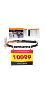 marathon race number belt