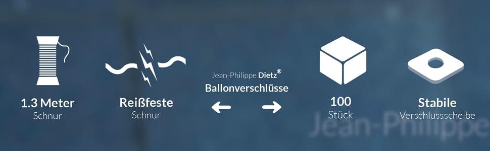 Verschlussscheibe 2cm breit und 2 cm lang Ballonverschluss Befülle den Ballon mit Luft oder Helium