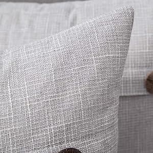 farmhouse linen burlap pillows grey gray