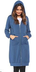 Women Casual Zip up Fleece Hoodies