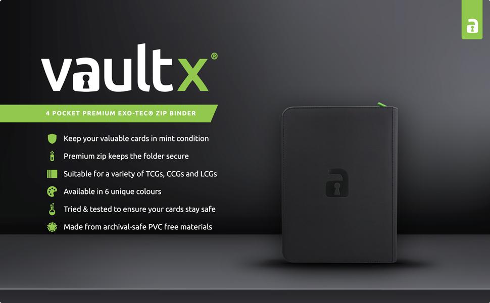 Vault X Premium eXo-Tec Zip Binder 4 Pocket