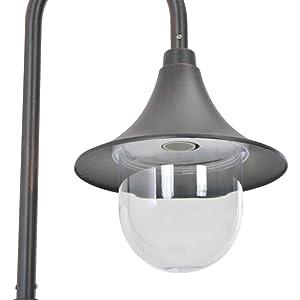 Festnight Farola Jardin Exterior Lámpara para Exteriores Aluminio Bronce E27 120 cm: Amazon.es: Hogar