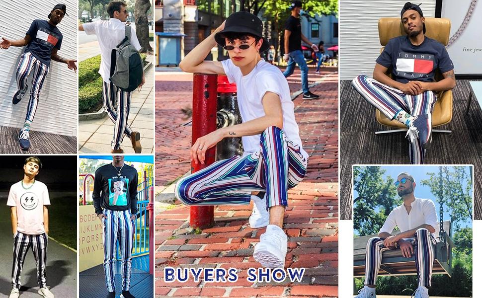 fashion colorblock pants for wen